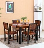 Buy Deux Solid Wood Four Seater Dining Set in Dual Tone Finish by Woodsworth  Online: Shop from wide range of Dining Online in India at best prices. ✔Free Shipping✔Easy EMI✔Easy Returns