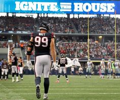 Houston Texans defensive end J.J. Watt reacts after sacking... Photo-photo.101285 - Houston Chronicle