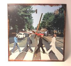 THE BEATLES Wall CLOCK Abbey Road by recordsandstuff on Etsy, $28.00