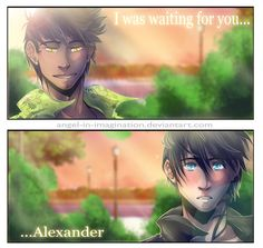 Over Again ...  Drawn by Angel-In-Imagination  ...  alexander 'alec' lightwood, magnus bane, the mortal instruments