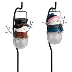 2 Pack Snowman Figurine Solar Landscape Light at Menards; $14.99 sale (ad)