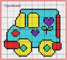 Cross Stitch Charts, Cross Stitch Patterns, Broderie Simple, Plastic Canvas, Cross Stitching, Pixel Art, Crochet Baby, Diy And Crafts, Embroidery