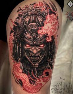 Japan Tattoo Design, Tattoo Design Drawings, Tattoo Sleeve Designs, Tattoo Sketches, Sleeve Tattoos, Japanese Mask Tattoo, Japanese Tattoos For Men, Dope Tattoos, Tattoos For Guys