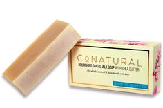 NOURISHING GOAT'S MILK SOAP WITH SHEA BUTTER | Rs 375 | Goat's milk soap is wonderful for people with dry or sensitive skin, or conditions such as eczema and psoriasis. It is also perfect for healthy skin that wants to stay that way. This gentle soap produces a nice lather, will not dry your skin, remove all make-up and has a beautiful citrus aroma. Our soap is made from unprocessed farm-fresh goat's milk.