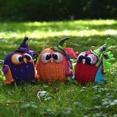 Pumpkin owl by VendulkaM - crochet pattern