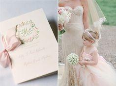 Romantic Pink Wedding and Gold Wedding Programs   Lana's Shop