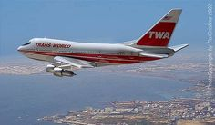 1 of 3 Boeing 747 SP models operated by TWA - great pic