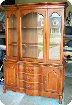 Three Mango Seeds: China Hutch Makeover