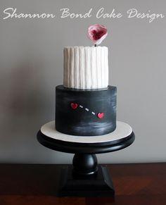 Shannon Bond Cake Design/ Hearts Apart, Knit Together Cake / www.sbcakedesign.com