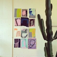 Regram from @pigmentcolordesign, a sneak peek of some work from 'Summer Colors' opening today 4-6 in C-ville at Pigment.