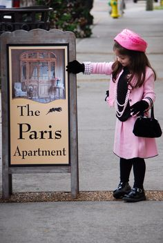 My little girl after having tea at The Paris Apartment in Sweetwater, TN