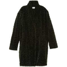 Isabel Marant Étoile Adams faux-fur coat (44965 RSD) ❤ liked on Polyvore featuring outerwear, coats, isabel marant, isabel marant étoile, dark green, cocoon coat, oversized coat, imitation fur coats, fake fur coats and wrap coat