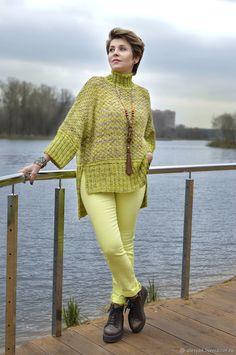 Herringbone Stitch Knitting, Mode Hijab, Knitted Poncho, Knit Jacket, Crochet Fashion, Crochet Clothes, Baby Knitting, Knitting Patterns, Knit Crochet