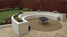 Selection Of Integrated Garden Benches | Rogerstone Gardens|Garden ...