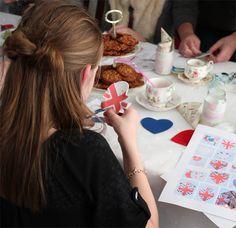 Happy Moments - DIY Felt kits! Great activity for Birthday Parties! Union Jack, Moustache, etc..