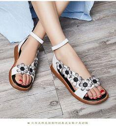 b171817d1 Rasteiras Femininas, Diy Sapatos, Sapatos De Couro, Sandalias De Couro,  Sapatos Fofos