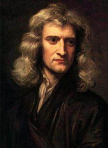 Isaac Newton (1642 - 1726)    Engelsk matematiker, fysiker, astronom, alkymist, kjemiker, oppfinner, og naturfilosof. Hans tre hovedverker er Principiable, Philosophical Transactions og Opticks. De newtonske bevegelseslover ble godtatt som ubestridelige lover i mekanikken inntil slutten av 1800-tallet.