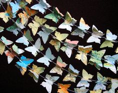 Beautiful vintage map butterfly garlands.