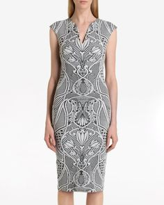 Jacquard midi dress - Black   Dresses   Ted Baker