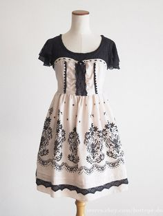 Axes Femme Floral Lace Embroidery OP Ribbon Dress Victorian lolita Kawaii Japan #AxesFemme #JSKJumperdressPeplum #Party