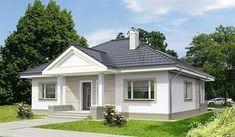 projekt Lucia IV DCB88c WOB1566 3d House Plans, Indian House Plans, Dream House Plans, Shed Plans, Bungalow Porch, Modern Bungalow House, Bungalow House Plans, Office Floor Plan, Compact House