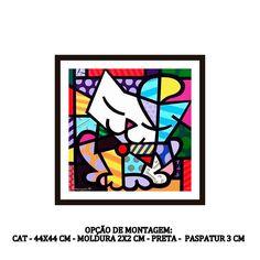 Quadro - Cat - Romero Britto - 206,00.