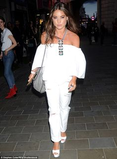 MIC's Louise Thompson looks FURIOUS as she attends party amid claims she 'cheated on beau Alik with her personal trainer for months' | Daily Mail Online