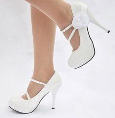 Fotos de zapatos blancos para fiesta de Año Nuevo