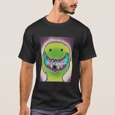 Smiling Green Monster T-Shirt - diy cyo customize create your own personalize Green Monsters, T Shirts, Shirt Style, Your Style, Shirt Designs, Mens Tops, Create, Gifts, Diy