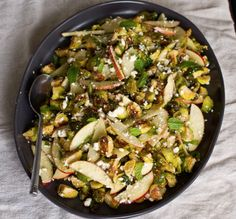 Roasted Brussels with Apples