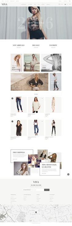 If you want to impress your customers with the non-standard approach in web design and the latest web development trends, make use of <b>VIVA</b> clothing store OpenCart template. Its original layo...: