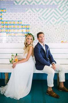 a navy jacket, a white shirt and cropped pants, brown shoes for a breezy and comfy beach look wedding groom attire Beach Wedding Groom Attire, Beach Groom, Groomsmen Beach Attire, Summer Wedding Suits, Bride Groom, Casual Groom Outfit, Casual Grooms, Simple Beach Wedding, Boho Wedding