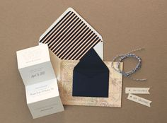 Whimsical Travel-Inspired Wedding Save the Dates | Oh So Beautiful Paper