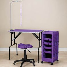 Wholesale Dog Grooming Products & Pet Supplies Love the purple theme! Dog Grooming Shop, Dog Grooming Salons, Dog Grooming Supplies, Dog Grooming Business, Dog Supplies, Luxury Pet Beds, Pet Resort, Wood Dog, Pet Accessories
