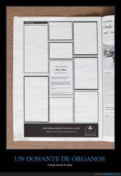 Potente publicidad como pocas - Puede salvar 8 vidas