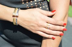 Loving absolutely everything about these #silver and #gold screw accessories from @LizaSJewelry #jewelry #style