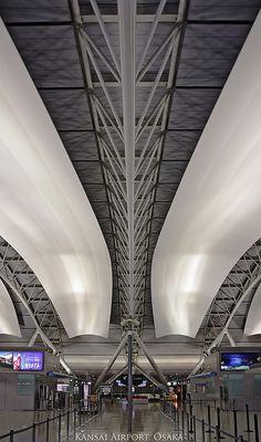 Kansai International Airport (Osaka) - designed by Italian architect Renzo Piano. Mr. Piano also designed the Pompidou Centre in Paris.