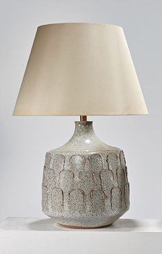 David Cressey; Glazed Earthenware Table Lamp from the Pro/Artisan Series for Architectural Pottery, 1963.