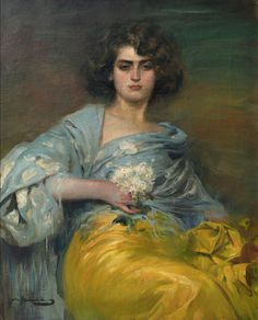 Ramon Casas i Carbó - Retrato de Júlia Peraire, 1908