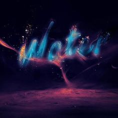 Create a glowing splashing water text effect in Photoshop