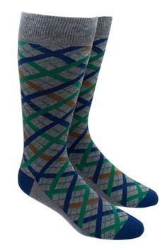 Picnic Plaid - Green/Navy (Socks) | Ties, Bow Ties, and Pocket Squares | The Tie Bar