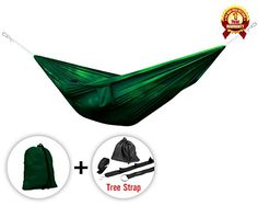 Army Green Ultra Light Hammocks with Tree Strap - ²CJ1DZ - check it out at... http://backpackingandcampingessentials.com/backpacking-gear/army-green-ultra-light-hammocks-with-tree-strap-%c2%b2cj1dz/