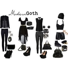 Modern Goth by pastelunicorn on Polyvore featuring MANGO, River Island, Dorothy Perkins, rag & bone/JEAN, Alice by Temperley, Boohoo, Jeffrey Campbell, ASOS, Chloé and Big Buddha