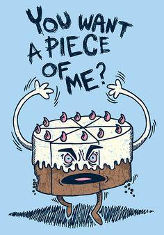 Angry cake