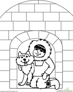 color the igloo - Igloo Pictures To Color