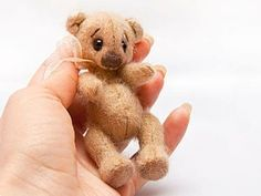 how to sew a mini bear. pattern and tutorial