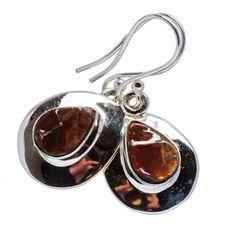 """Ana Silver Co Ammolite Earrings 1 1/4"""" (925 Sterling Silver) - Handmade Jewelry EARR358825 #handmadesilverjewelry"""