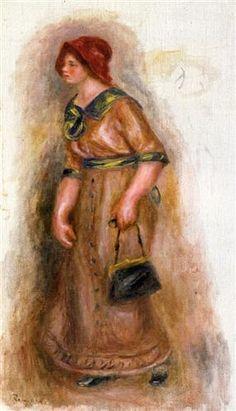 Woman with Bag - Pierre-Auguste Renoir