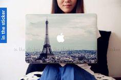 Eiffel Tower macbook decal, Air or Ipad Stickers Macbook Decals Apple Decal for Macbook Pro / mac cover