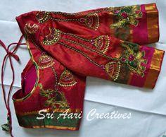 Bridal designer work - Contact ; Sri Aari Creatives : 9842995293
